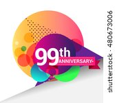 99th anniversary logo  colorful ... | Shutterstock .eps vector #480673006