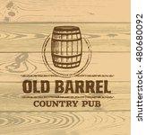 Old Barrel Creative Vector Sig...