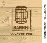 Old Barrel Creative Vector Sign....