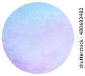 winter watercolor round...   Shutterstock . vector #480683482