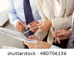 business people discussing... | Shutterstock . vector #480706156