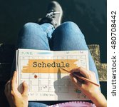 Small photo of Schedule Agenda Planner Reminder Calendar To Do Concept