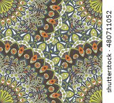 seamless pattern mandala... | Shutterstock .eps vector #480711052