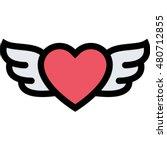 heart wings outline icon | Shutterstock .eps vector #480712855