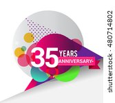 35 years anniversary logo with... | Shutterstock .eps vector #480714802