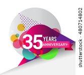 35 years anniversary logo with... | Shutterstock .eps vector #480714802