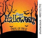 halloween lettering greeting... | Shutterstock .eps vector #480721792
