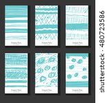hand drawn vector collection of ... | Shutterstock .eps vector #480723586
