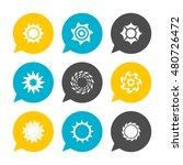 vector flat icons set   sun   | Shutterstock .eps vector #480726472