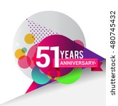 51 years anniversary logo ... | Shutterstock .eps vector #480745432