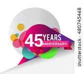 45 years anniversary logo ... | Shutterstock .eps vector #480745468