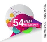 54 years anniversary logo ... | Shutterstock .eps vector #480745486