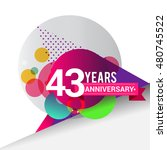 43 years anniversary logo ... | Shutterstock .eps vector #480745522