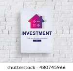 loan mortgage payment property... | Shutterstock . vector #480745966