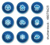 ecology web icons set 2  blue... | Shutterstock .eps vector #48075625