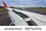 Small photo of Wing aircraft landing.