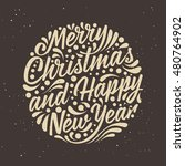 holidays greeting card with... | Shutterstock .eps vector #480764902