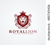royal lion logo 02 available in ... | Shutterstock .eps vector #480765406
