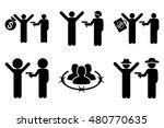thief arrest glyph icons.... | Shutterstock . vector #480770635