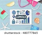 online shopping shipping... | Shutterstock . vector #480777865