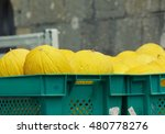 Yellow Melons Prepared To Sell...