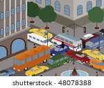 different cars gathered into a... | Shutterstock .eps vector #48078388