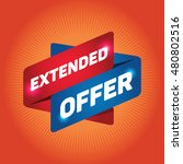 extended offer arrow tag sign.   Shutterstock .eps vector #480802516