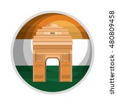 monument gate delhi india... | Shutterstock .eps vector #480809458