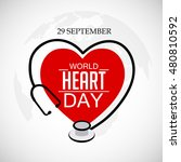 vector illustration world heart ... | Shutterstock .eps vector #480810592