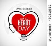 vector illustration world heart ... | Shutterstock .eps vector #480810592