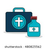 set first aid kit services... | Shutterstock .eps vector #480825562