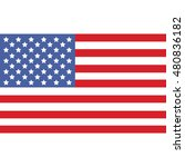usa flag vector illustration | Shutterstock .eps vector #480836182