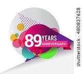 89 years anniversary logo ... | Shutterstock .eps vector #480837628