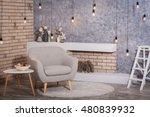 interior of scandinavian style  ... | Shutterstock . vector #480839932
