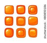bright cartoon orange vector...