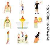 vector flat icon sport events   ... | Shutterstock .eps vector #480856522