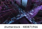 abstract 3d city rendering with ... | Shutterstock . vector #480871966