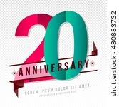 anniversary emblems 20... | Shutterstock .eps vector #480883732
