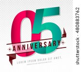 anniversary emblems 5... | Shutterstock .eps vector #480883762