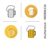 glass of beer flat design ... | Shutterstock . vector #480886126