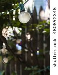 view at round light bulbs in... | Shutterstock . vector #480892348