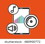 music player device electronic... | Shutterstock .eps vector #480900772
