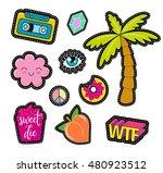 80s fashion vector pop art... | Shutterstock .eps vector #480923512