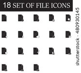 set of file vector icons | Shutterstock .eps vector #480930145