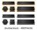 metallic and golden buttons   Shutterstock .eps vector #48094636