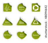 eco tags | Shutterstock .eps vector #48094642