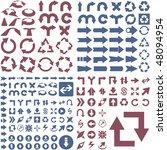 set of arrows. vector great... | Shutterstock .eps vector #48094954
