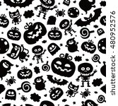 vector seamless pattern in... | Shutterstock .eps vector #480952576
