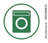 washing machine icon vector....