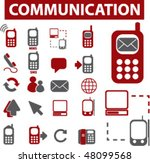 20 communication signs. vector | Shutterstock .eps vector #48099568